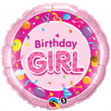 "Birthday Girl Foil Balloon (18"") 1pc"